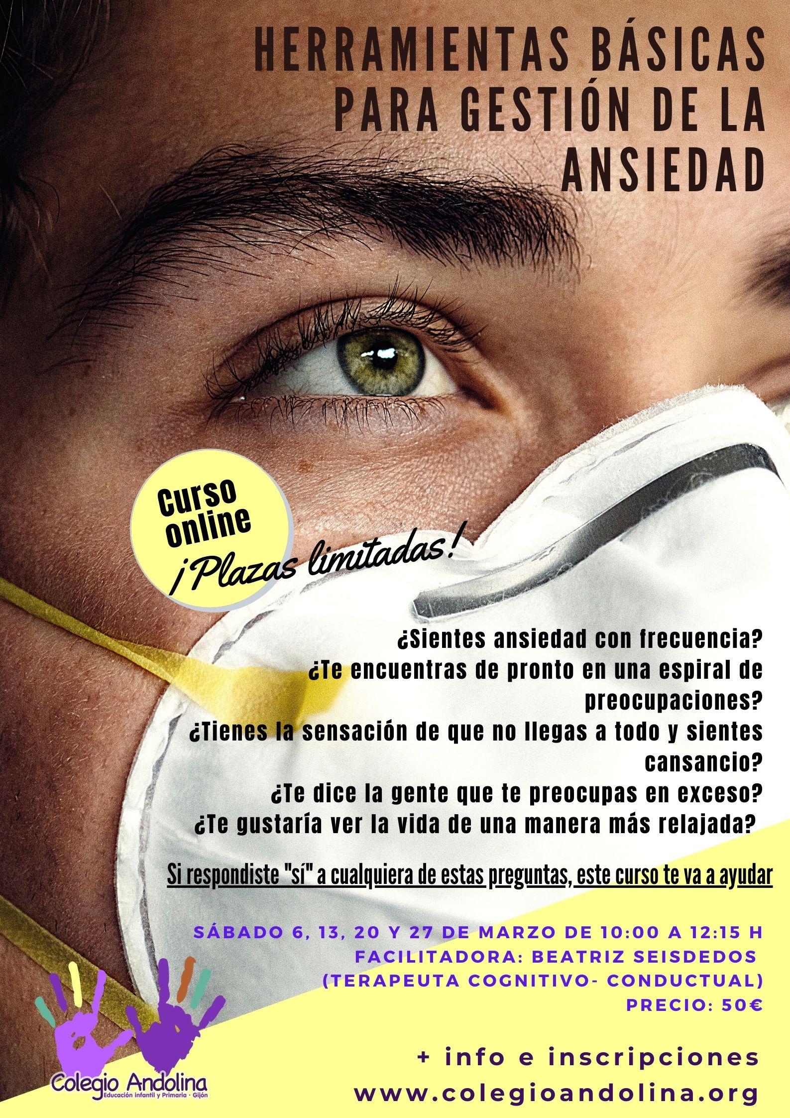 CURSO GESTIÓN DE ANSIEDAD EN ANDOLINA